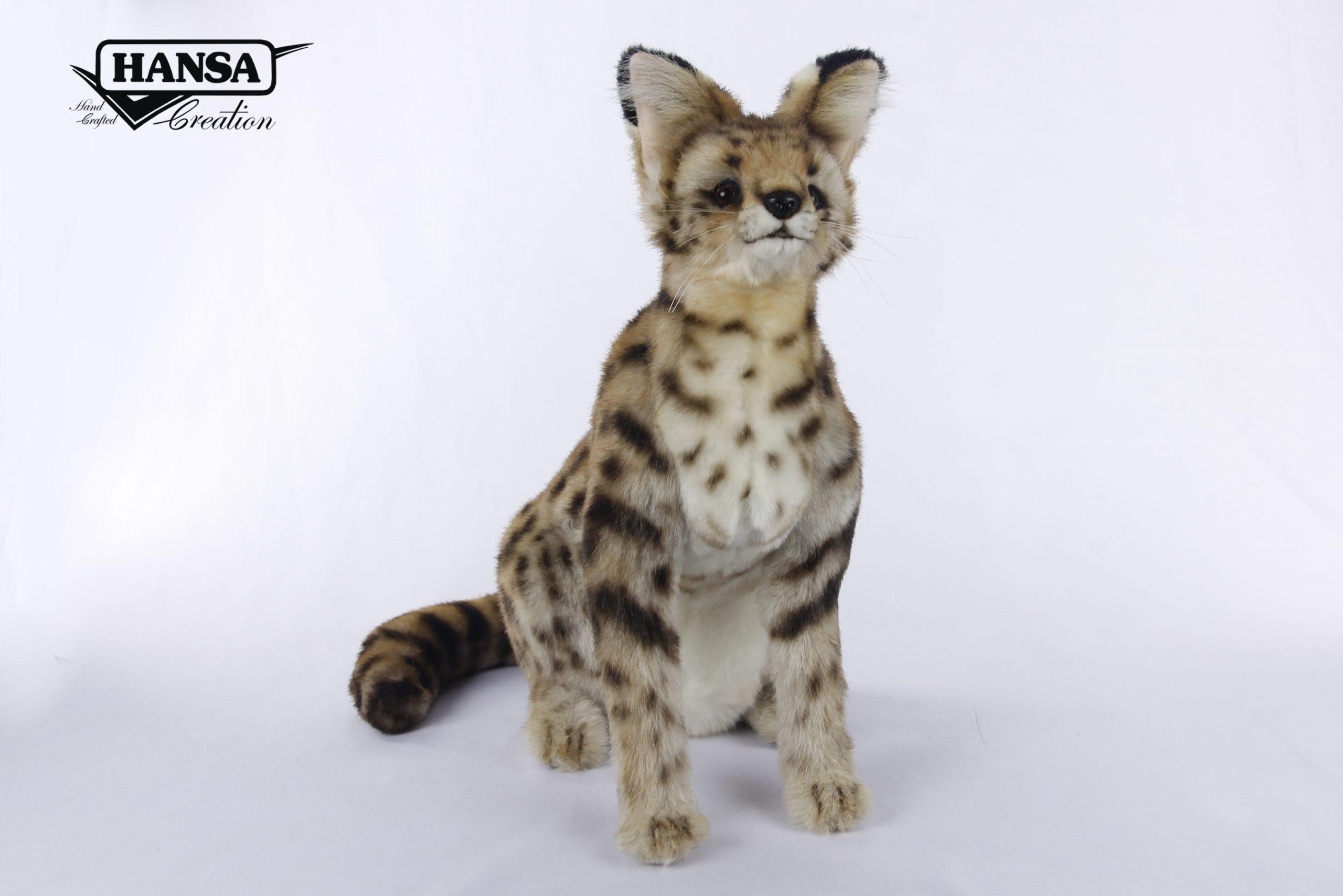 7373-African Serval Cat Sitting 44cm.L – Hansa Creation Inc.
