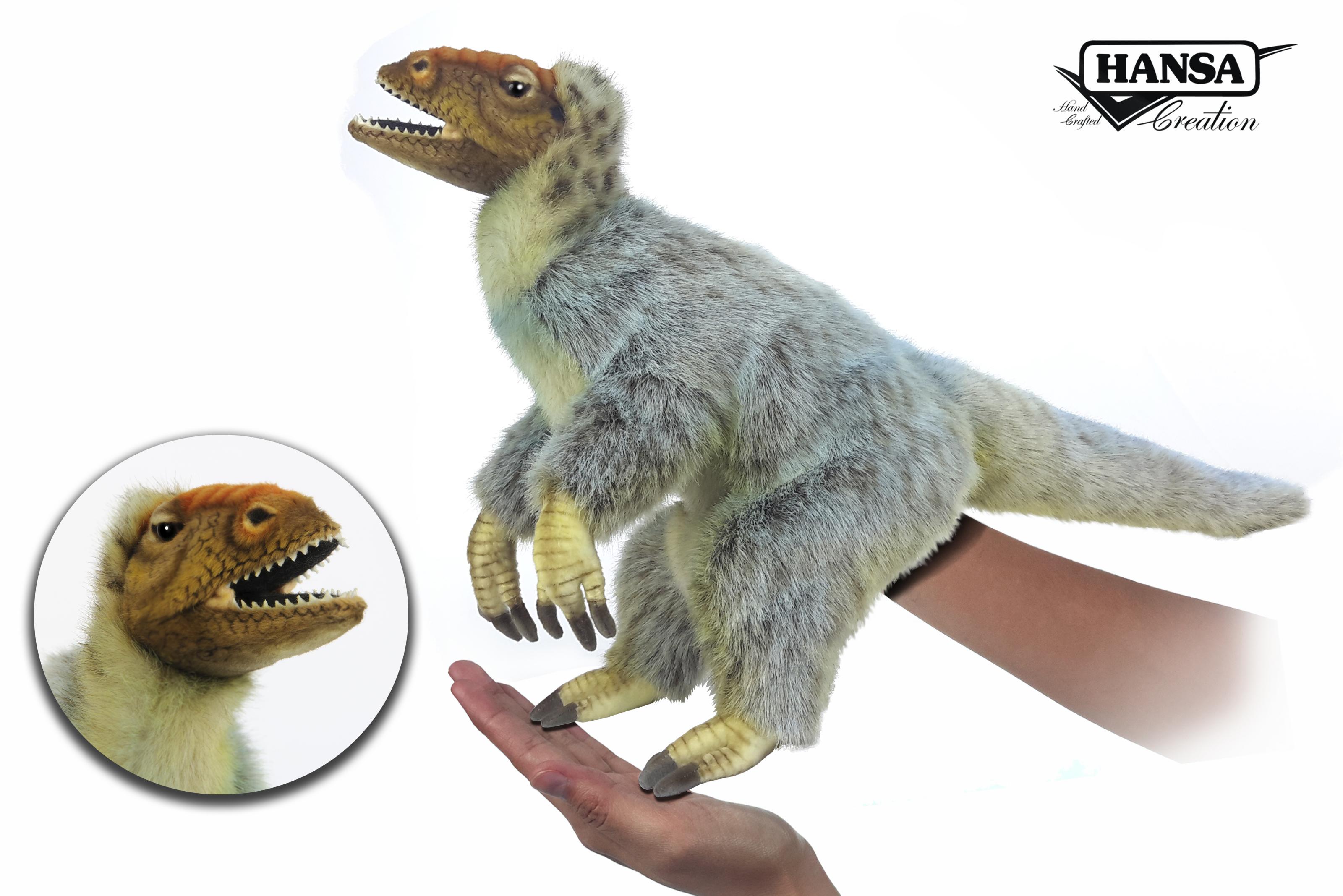 Hansa T-Rex Puppet 50cm.L Yellow Green
